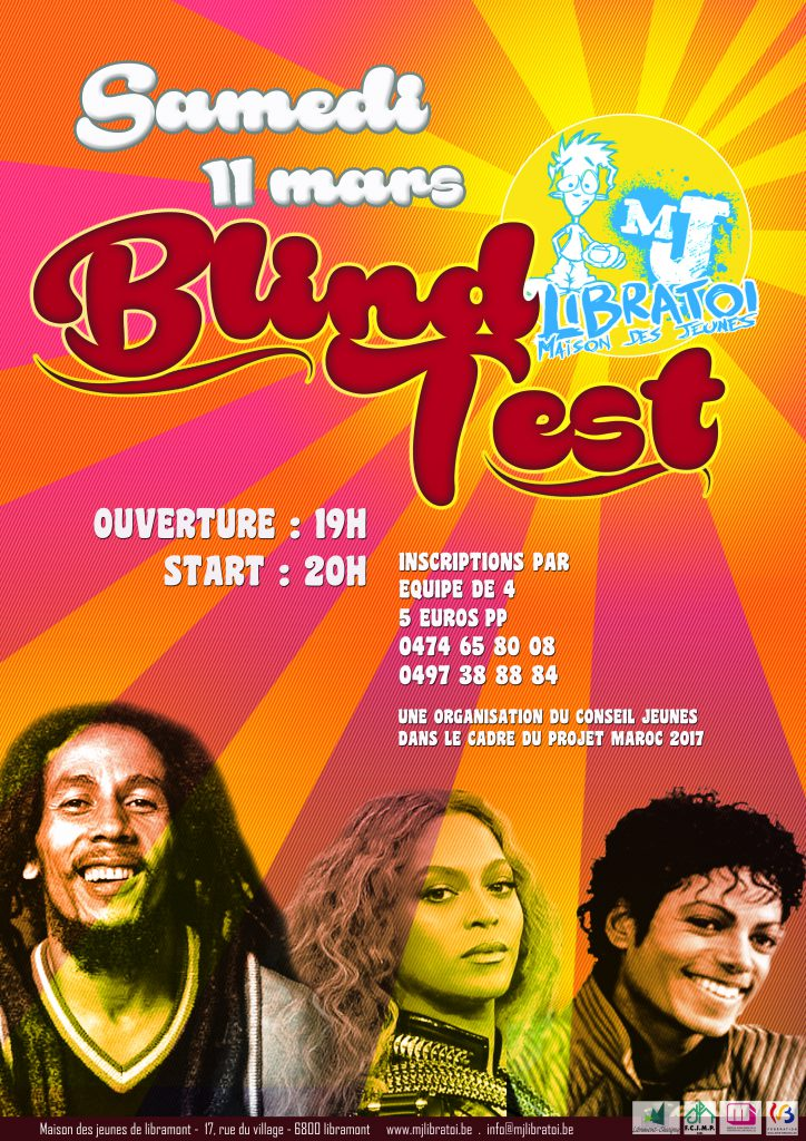 affiche rue blind test 2017