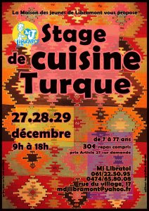 affiche stage cuisine 2017