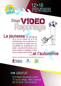 stage video reportage comme tu veux